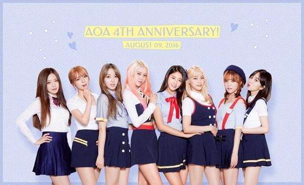【160809】AOA迎来出道4周年 惊喜公开完整体纪念照