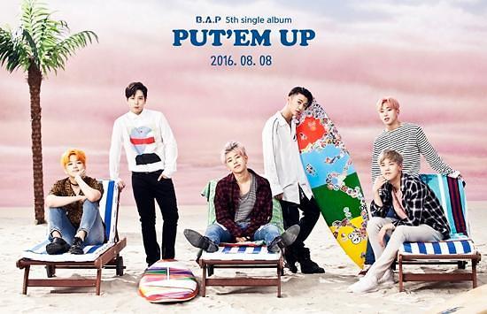 【160729】B.A.P将于8月8日发布新专辑《PUT'EM UP》