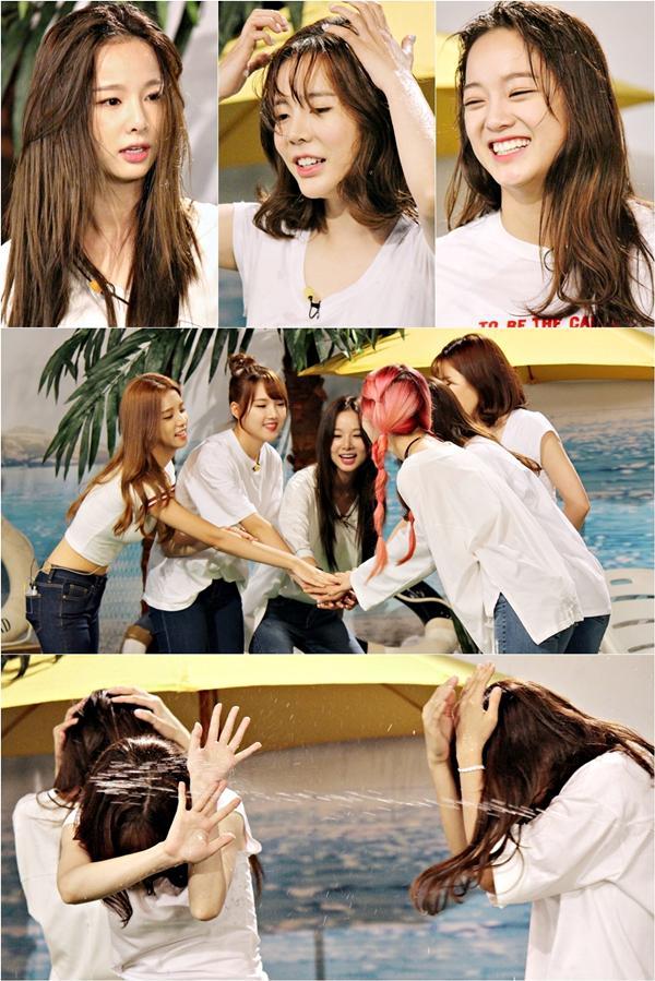 "【160811】Sunny率智等做客《Together3》 惨遭""水枪洗礼"""