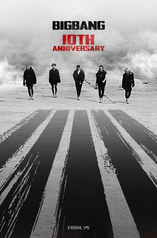 【160819】YG公开祝贺照 纪念BigBang出道十周年