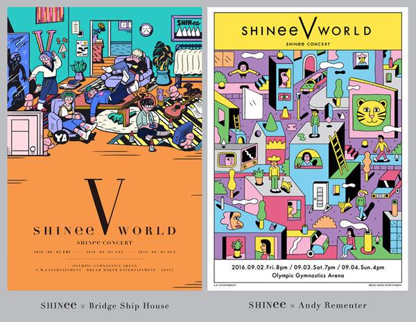 【160819】SHINee特别展览会21日开始 展示演唱会海报视频