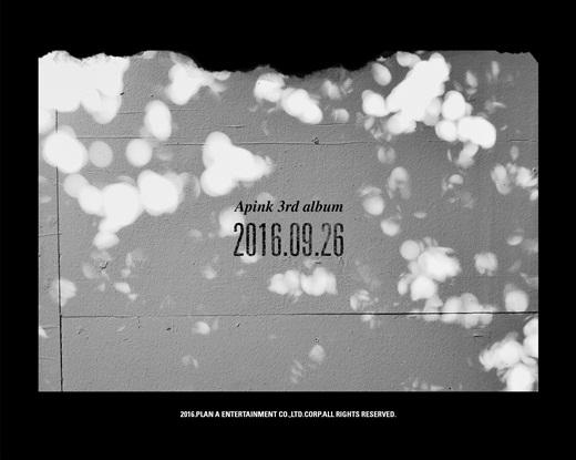 [160902]Apink26日发行正规三辑 时隔1年2个月回归