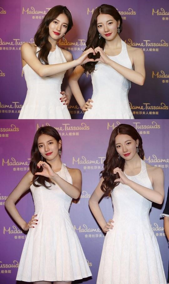 """[160913]秀智赴香港观看""""双胞胎蜡像"""" 成蜡像馆首韩流女神"""