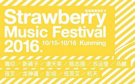 昆明草莓音乐节全名单发布 陈志朋苏运莹加盟