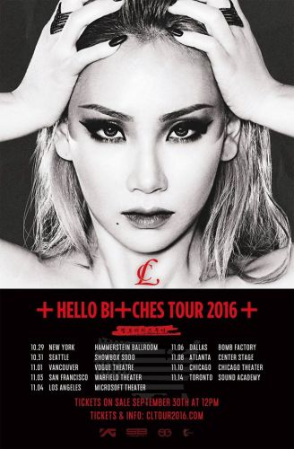 歌手CL十月起环绕美国九个城市 展开个人巡回演唱会