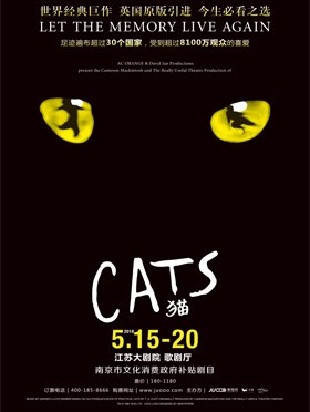 南京市政府文化消费补贴剧目 世界经典原版音乐剧《猫》Cats 南京站