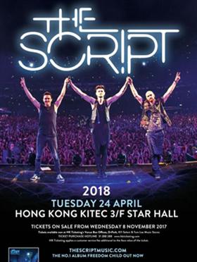 The Script 香港演唱会 2018香港站